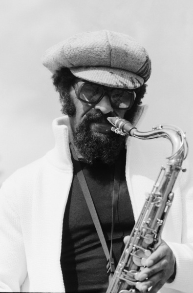 Sonny Rollins photographed in New Paltz, New York during an outdoor concertcirca 1970s© 1978 Ken Shung - Image 24302_0039
