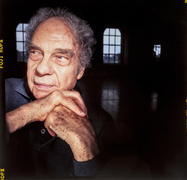 Merce Cunningham photographed at his dance company