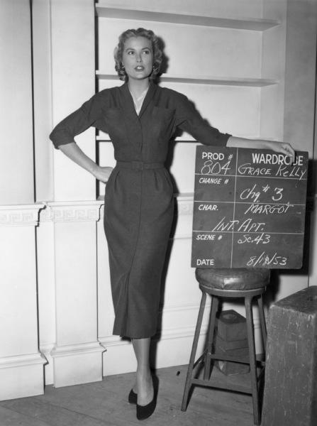 "Grace Kelly wardrobe test for ""Dial M for Murder""1954** I.V. - Image 24322_0083"