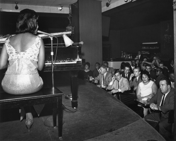 Aretha Franklin performing for Jack Loetz, Joe Lyons, Gene Weiss, Dick Gassen, Sal Forlenza, Norm Ziegler, Bill Gallagher, and Granny Whitecirca 1960s** I.V.M. - Image 24322_0172
