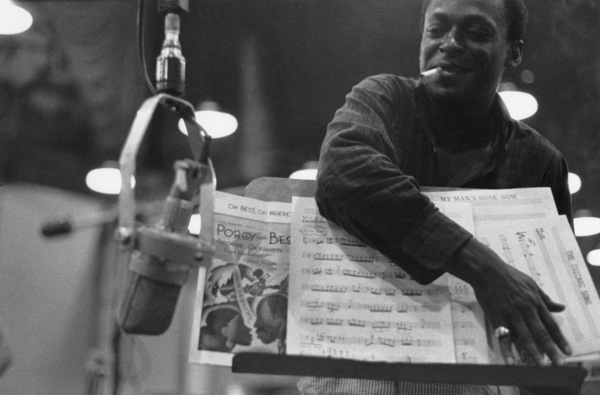 """Miles Davis during the recording session for his album """"Porgy and Bess""""1958** I.V.M. - Image 24322_0178"""