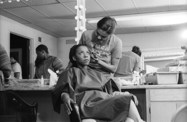 Patrice Rushen and her make-up artist, Tara Posycirca 1980s© 1980 Bobby Holland - Image 24331_0099