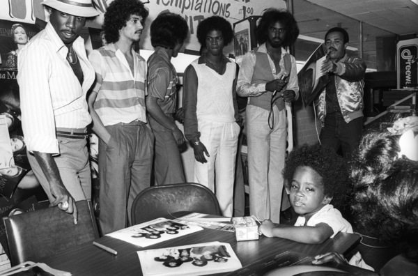 """Switch"" at Freeway Records in Los Angeles, CA(Tommy DeBarge, Eddie Fluellen, Bobby DeBarge, Jody Sims, Phillip Ingram, Gregory Williams)circa 1979© 1979 Bobby Holland - Image 24331_0225"