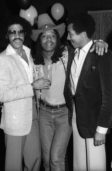 Lionel Richie, Rick James and Smokey Robinson at Berry Gordy Jr.