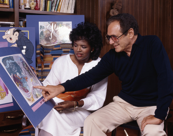 Phyllis Tucker Vinson and Joseph Barbera at NBC1986© 1986 Bobby Holland - Image 24331_0260