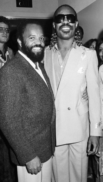 Berry Gordy Jr. and Stevie Wonder circa 1970s© 1978 Bobby Holland - Image 24331_0270