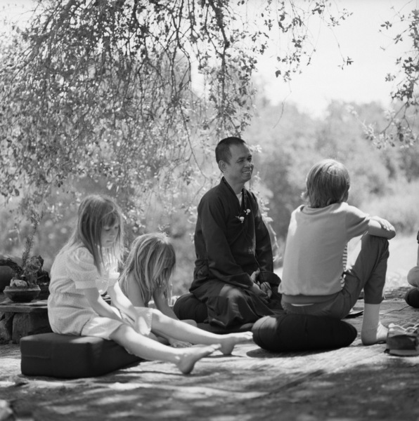 Thich Nhat Hanh at the Ojai Foundation in California1987 © 1987 Dana Gluckstein - Image 24349_0176