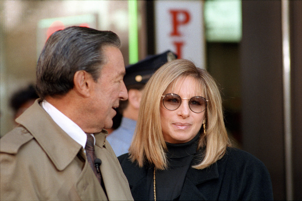 """""""60 Minutes""""Mike Wallace, Barbra Streisandcirca 1991© 1991 Patrick D. Pagnano - Image 24351_0048"""