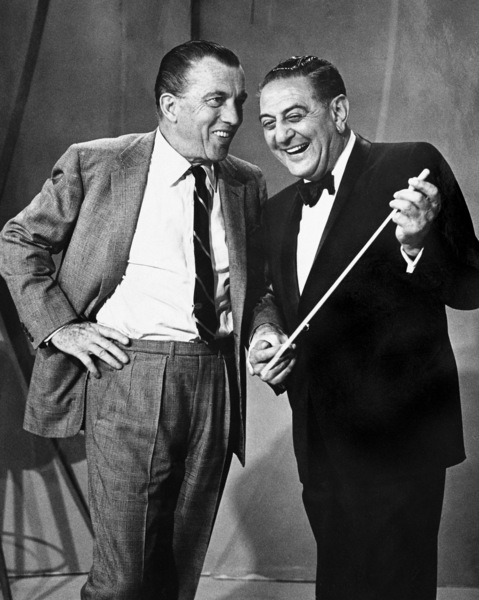 Ed Sullivan with Guy Lombardo backstage at CBS1965© 1978 Barry Kramer - Image 24354_0056