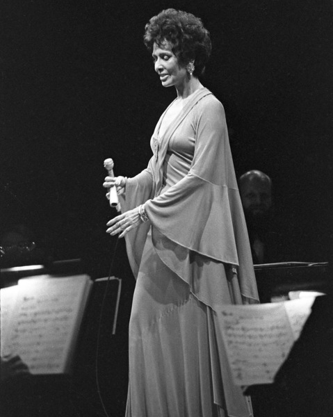 Lena Horne performing at Westbury Music Fair in New York1974© 1978 Barry Kramer - Image 24354_0272