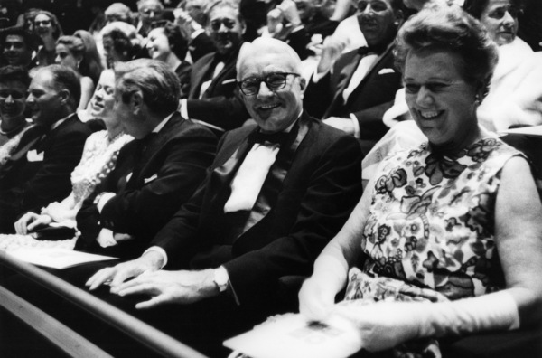Norman and Dorothy Chandler at the opening of the Mark Taper Forum1967© 1978 Bob Willoughby - Image 24356_0004