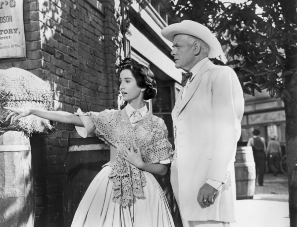"""Maggie McNamara and Charles Bickford in """"Prince of Players""""1955 20th Century-Fox** I.V. - Image 24359_0002"""