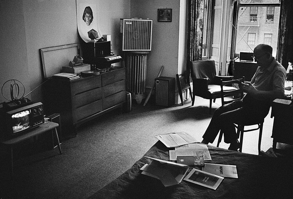 """Arthur C. Clarke at the Chelsea Hotel in New York City, where he wrote """"2001: A Space Odyssey""""circa 1964© 1978 Peter Angelo Simon - Image 24364_0004"""