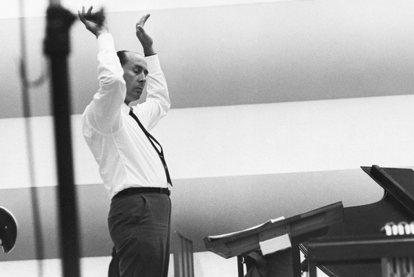 Henry Mancini at RCA Studios in Hollywood 1966© 1978 Steve Banks - Image 24377_0026
