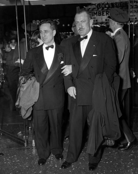 """Elia Kazan and Author, John Steinbeck, atthe Premiere of """"East of Eden""""1955 - Image 2544_0102"""