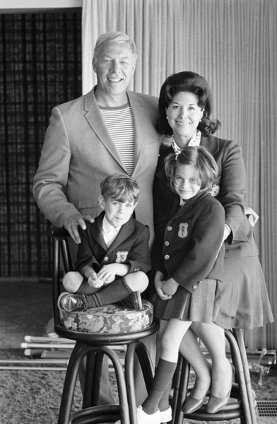 George Kennedy with wife Revel and their two children, Karianne and Christopher George 1969 © 1978 Gene Trindl - Image 2553_0019