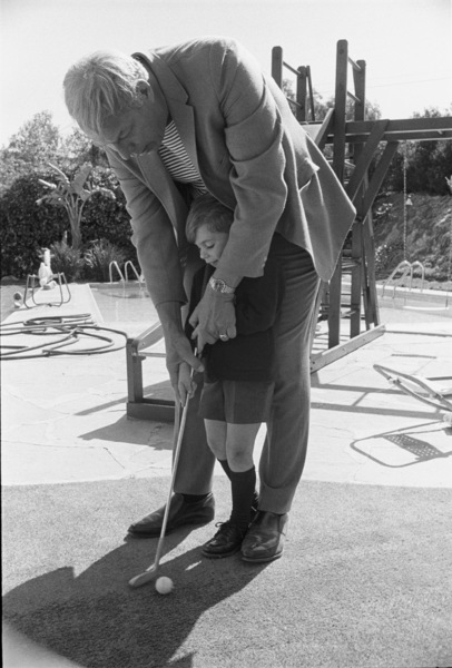 George Kennedy and son Christopher George1969© 1978 Gene Trindl - Image 2553_0021