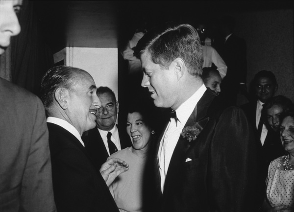 John F. Kennedy with Jack WarnerLos Angeles, CAcirca 1961 © 1978 David Sutton - Image 2554_0024