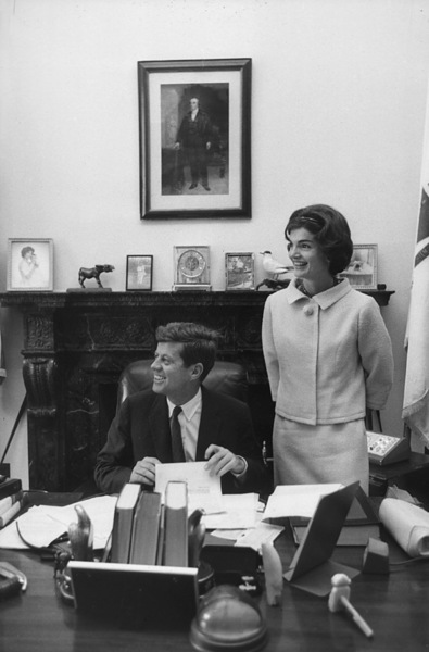 John F. Kennedy and Jacqueline Kennedy in John