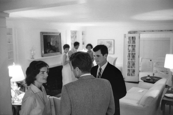 Edward Kennedy at Hyannis Port with John F. Kennedy and Jacqueline Kennedycirca 1960 © 2000 Mark Shaw - Image 2554_0150