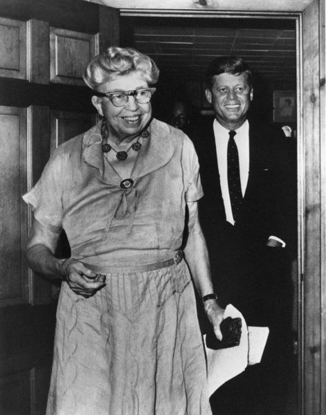 John F. Kennedy and Eleanor Roosevelt at Val-Kill cottage Hyde Park, NY1960** I.V.M. - Image 2554_0208