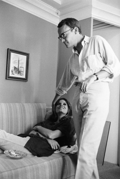 """""""The Graduate""""Katharine Ross, Buck Henry1967© 1978 Bob Willoughby - Image 2892_0114"""