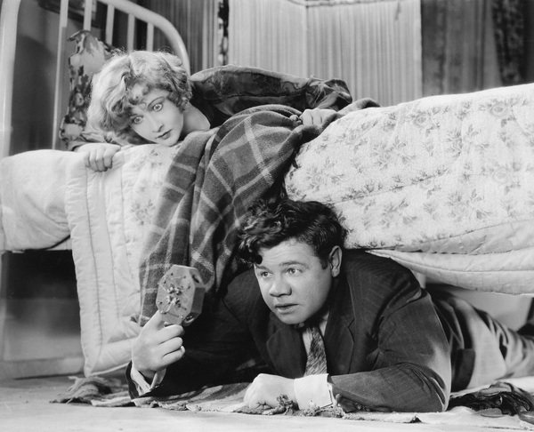 "Babe Ruth with Anna Q. Nilsson in ""Babe Comes Home""1927 First National Pictures, Inc. - Image 2900_0003"