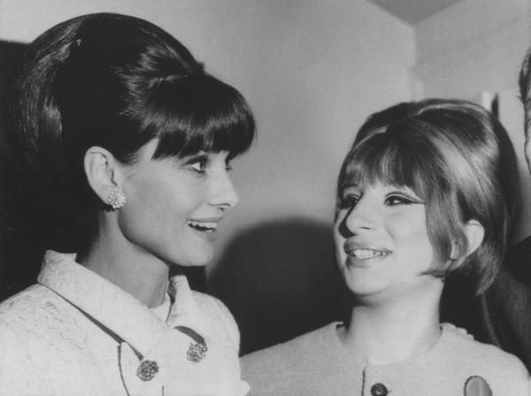 "Audrey Hepburn, Barbra StreisandAfter a broadway performance of""Funny Girl""1964 - Image 2995_0312"
