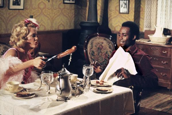 """""""Blazing Saddles""""Madeline Kahn, Cleavon Little © 1974 Warner Brothers** I.V. - Image 3306_0334"""