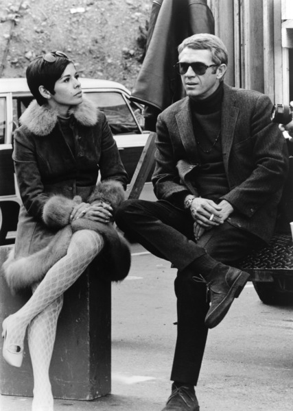 """""""Bullitt""""Steve McQueen and wife Neile behind the scenes1968 Warner BrothersPhoto by Mel Traxel - Image 3321_0118"""