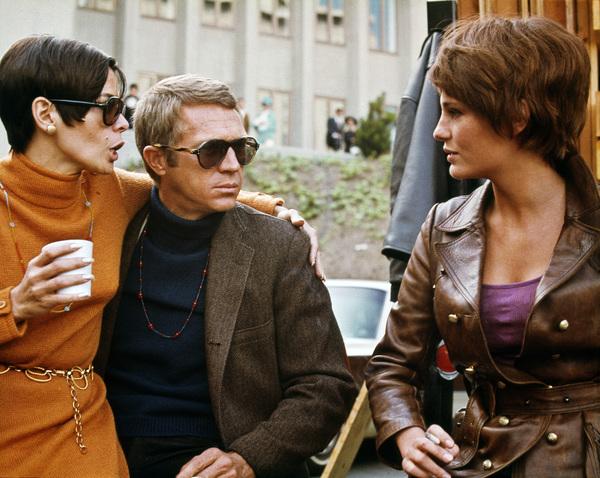 """Bullitt"" Steve McQueen and wife Neile Adams with Jacqueline Bisset 1968 Warner Brothers ** I.V. - Image 3321_0130"