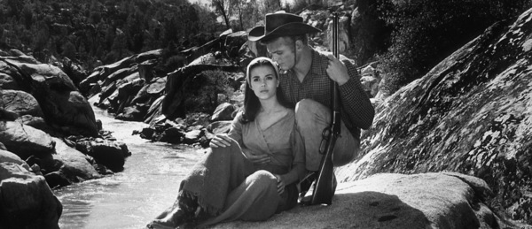 """The Burning Hills,""Natalie Wood & Tab Hunter.1956/Warner Bros.Photo by Jack Wood - Image 3323_0100"