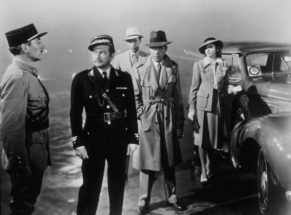 """Casablanca""Claude Rains, Humphrey Bogart, Ingrid Bergman, and Paul Henreid1942 Warner Bros.MPTV - Image 3339_0312"
