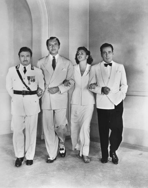 """Casablanca""Claude Rains, Paul Henreid, Ingrid Bergman, Humphrey Bogart 1942 Warner Brothers - Image 3339_0317"