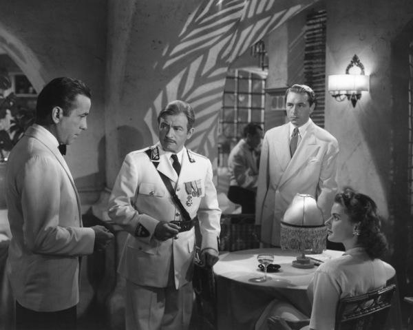 """Casablanca""Humphrey Bogart, Claude Rains, Paul Henreid, Ingrid Bergman1942  Waner Bros** I.V. - Image 3339_0354"