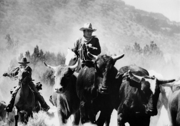 "John Wayne riding a horse for ""The Cowboys""1971© 1978 David Sutton - Image 3370_12"
