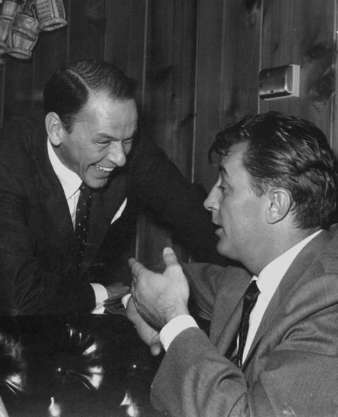 Frank Sinatra and Robert Mitchum at Sinatra