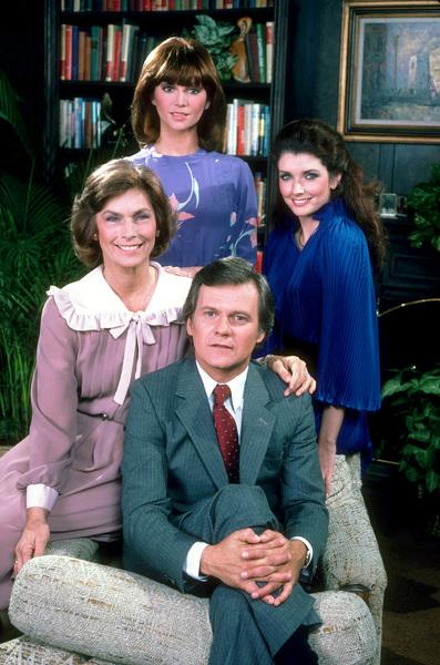 """""""Dallas""""Priscilla Pointer, Victoria Principal, Morgan Brittany, Ken Kercheval1981 CBS © 1981 Gene Trindl - Image 3379_0086"""