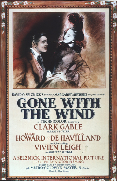 """Gone With the Wind"" posterClark Gable, Vivien Leigh1939 MGM - Image 3457_0020"