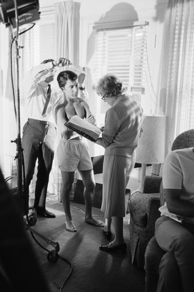 """The Graduate""Dustin Hoffman, script supervisor Meta Rebner1967© 1978 Bob Willoughby - Image 3461_0313"