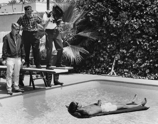 """The Graduate"" Dustin Hoffman, director Mike Nichols1967 United Artists - Image 3461_0314"
