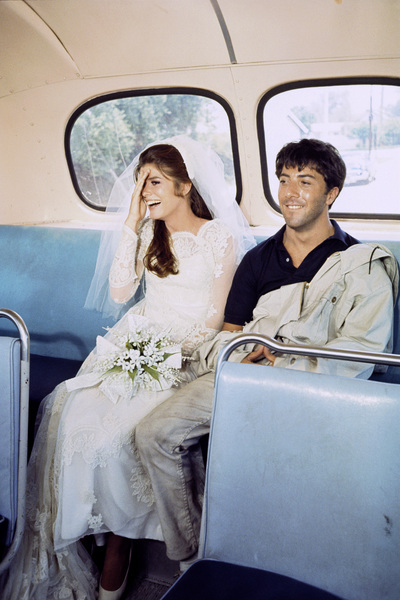 """""""The Graduate""""Katharine Ross, Dustin Hoffman1967© 1978 Bob Willoughby - Image 3461_0371"""
