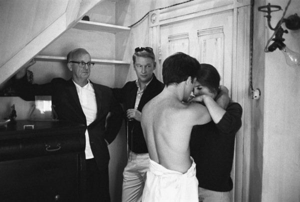 """The Graduate""Cinematographer Robert Surtees, director Mike Nichols, Dustin Hoffman, Katharine Ross1967 United Artists© 1978 Bob Willoughby - Image 3461_0575"
