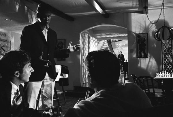 """The Graduate""Dustin Hoffman, director Mike Nichols, Murray Hamilton, Anne Bancroft1967 United Artists© 1978 Bob Willoughby - Image 3461_0672"