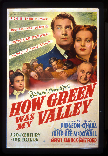 """How Green Was My Valley""Poster1941 20th Century Fox**I.V. - Image 3493_0004"
