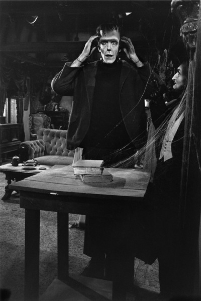 """""""The Munsters""""Fred Gwynne, Al Lewis1964© 1978 Bob Willoughby - Image 3600_0111"""