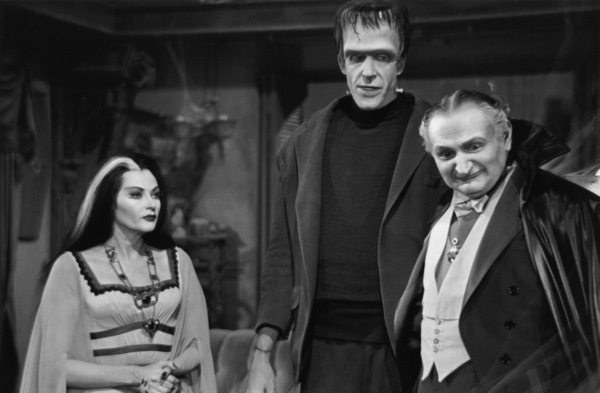 """The Munsters""Yvonne De Carlo, Fred Gwynne, Al Lewis1964© 1978 Bob Willoughby - Image 3600_0132"