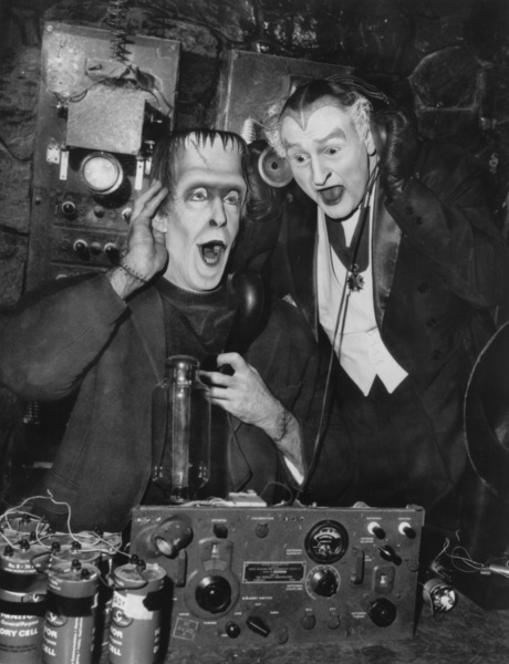 """""""The Munsters""""Fred Gwynne and Al Lewiscirca 1964** Part of the Kevin Burns Collection - Image 3600_0210"""