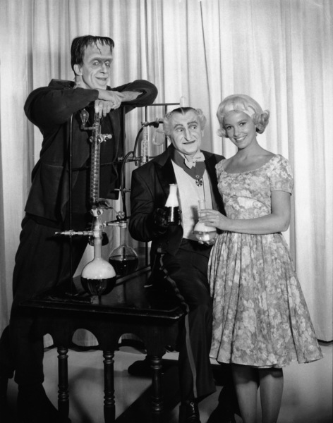 """The Munsters""Fred Gwynne, Al Lewis, Beverley Owencirca 1964** Part of the Kevin Burns Collection - Image 3600_0283"