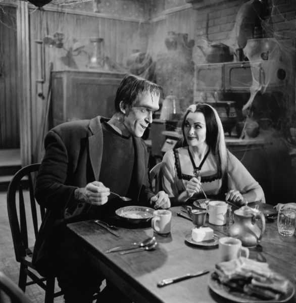"""The Munsters""Fred Gwynne, Yvonne De Carlocirca 1964** Part of the Kevin Burns Collection - Image 3600_0287"